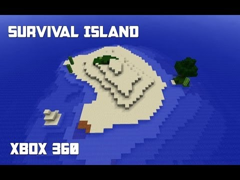 Minecraft Xbox 360 - The Real Survival Island Map w/ Download (Based On PC Version)
