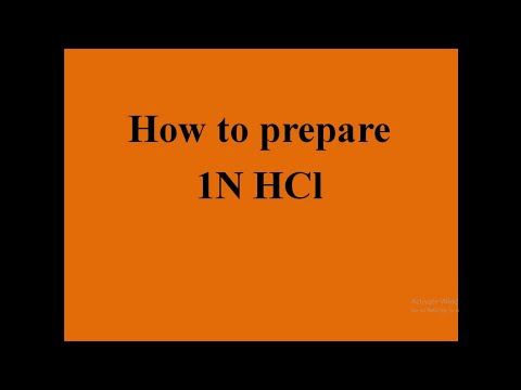 1N and 0.5 N hydrochloric acid (HCl) preparation