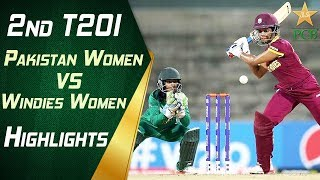 2nd T20I Pakistan Women Vs Windies Women At Karachi Highlights Super Over PCB