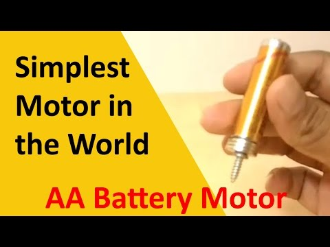 Simplest Motor in the World (AA Battery, Magnets, Screw) | AA Battery Motor