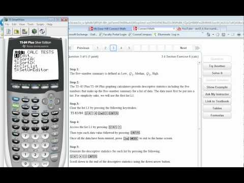 Calculating Five-number Summary with TI-83 or TI-84
