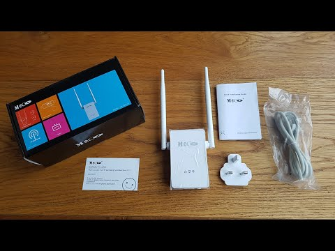 Unboxing and setup of a MECO WiFi Range Extender 300Mbps WiFi Repeater with Ethernet Port