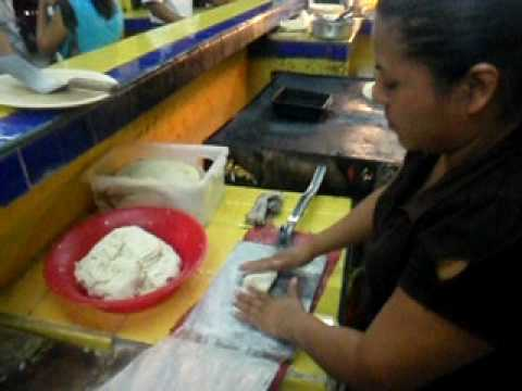 Homemade Huaraches Hand made from Masa Meal In Cozumel Chilangos