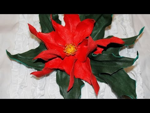 Make a Leather Poinsettia Brooch - DIY Style - Guidecentral