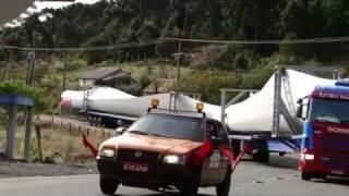 Transporte Das Hélices Do Parque Eólico De Bom Jardim Da Serra-sc