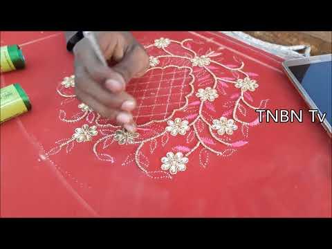 simple maggam work blouse designs | Simple Life Hacks, Diy | hand embroidery flowers simple
