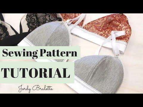Bralette Sewing Pattern Tutorial   Jordy Bralette Patten   Emerald Erin
