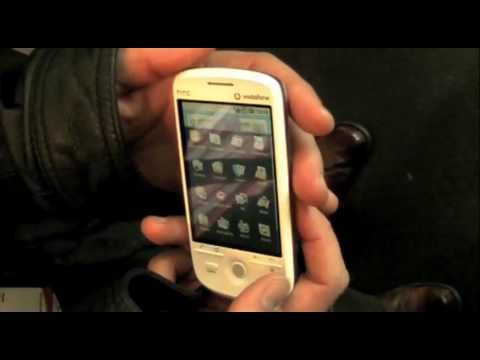 HTC Magic Google Android Phone Hands-On Running