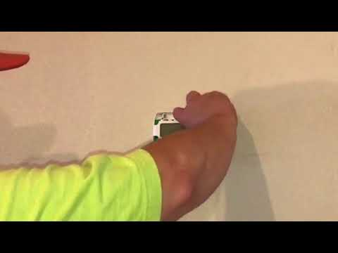 How To Install AA Batteries In A White Rodgers Digital Non Programable Thermostat