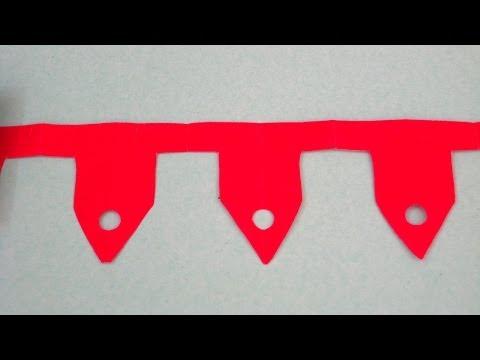 Paper Craft Ideas For Children - Make Beautiful Paper Chains    Sonia's Craft Workshop # 3