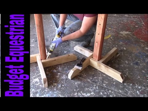 How To Build Horse Jumps: Caulking The Jump Standard Bases