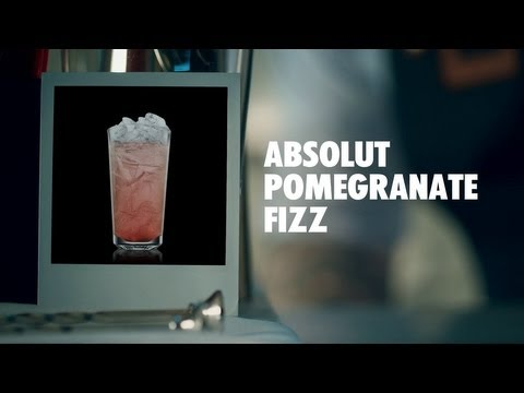 ABSOLUT POMEGRANATE FIZZ DRINK RECIPE - HOW TO MIX