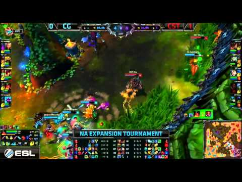 CG (Lucid Rammus) VS CST (Impaler Rengar) Game 2 Highlights - 2015 NA LCS Expansion Tournament