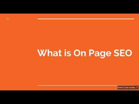 What is On | Off page SEO | Job Interview Questions and Answers 2017