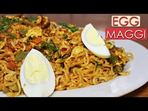 Egg Maggi Recipe   Easy and Quick Breakfast Recipe   Midnight Food Ideas   Kanak's Kitchen