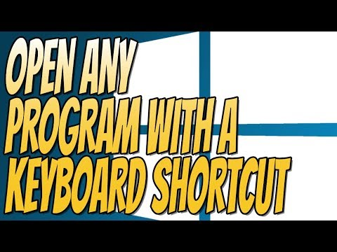 Launch A Program From A Shortcut Key In Windows 10 Tutorial   Launch APPS Fast & Easy