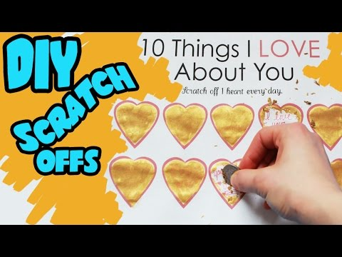 How to Make Scratch Off Valentines Day Card | Toy Caboodle