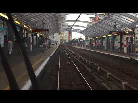 London Docklands Light Railway Full Journey from Lewisham to Stratford via Canary Wharf