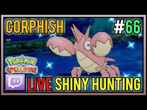 [Live] Shiny Corphish at 37 Chain Fishing | Live Shiny Hunt #66 | Pokemon Omega Ruby