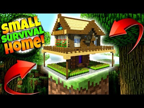 BEST SMALL SURVIVAL HOUSE EVER!!! MINECRAFT TUTORIAL!