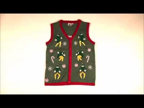 Buddy The Elf Lighted Ugly Christmas Sweater Vest with Sound by Festified