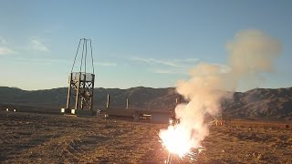 Worlds Largest Sugar Rocket Motor propellant grain and 3rd flight of the phoenix rocket