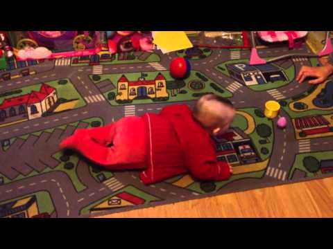 6 month old baby commando crawling first time