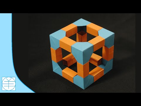 Origami Modular Cube. (Instructions) (Full HD)