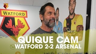 QUIQUE'S REACTIONS V ARSENAL! | COACH CAM IN WATFORD 2-2 ARSENAL 📹