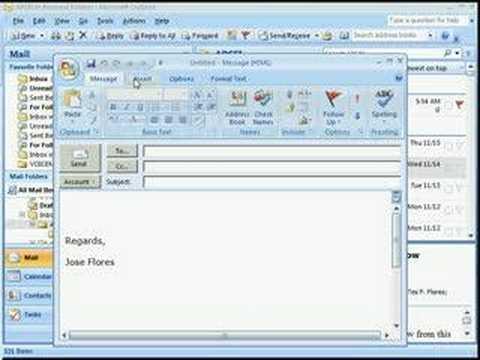 Outlook Signature Tutorial