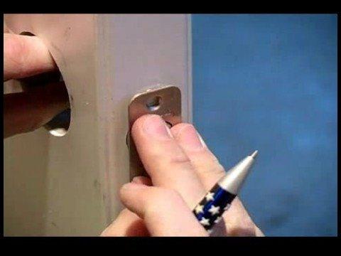How to Replace a Garage Entry Door : How to Change Door Locks