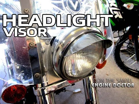 HOW-TO Install A Motorcycle Headlight Visor