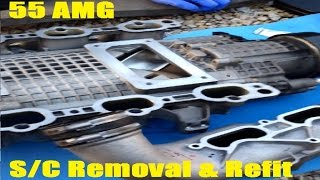 How to upgrade replace renew fuel injectors Mercedes AMG M113k