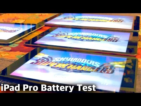 Battery Test: iPad Pro vs. iPad Air 2, iPad Mini, iPad 3