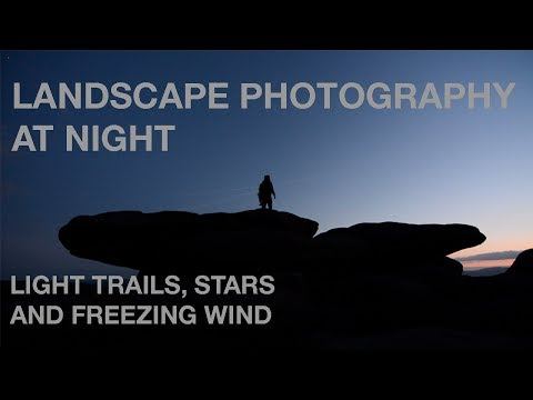 Sunset and nightscape photography in the Peak District