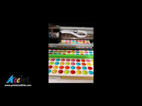 Edible food smarties printer, personalized M&M's, branded mints printer, custom mint printer