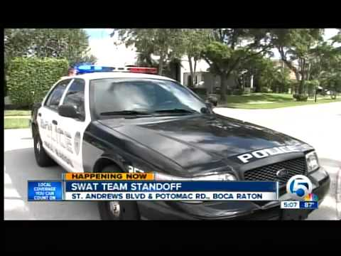 Standoff at Boca Raton home over