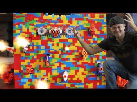 Nerf War: LEGO Nerf GUN Fortress!