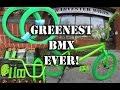 GREENEST BMX EVER! #harvestercustom BMX @ Harvester Bikes