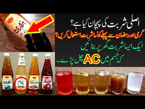 Best Drinks & Sharbat for Summer Before Ramadan - Shield Against Sun to Keep Body Healthy Urdu Hindi