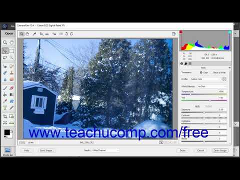 Photoshop Elements 2019 Tutorial Opening a Camara Raw Image from the Organizer Adobe Training