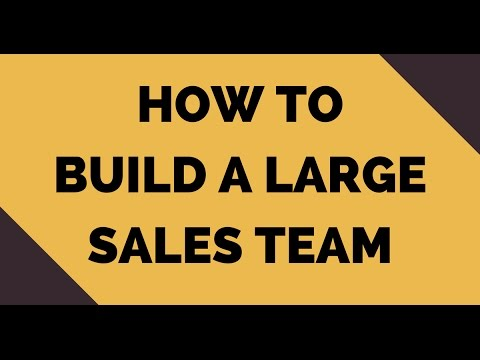 How to Build a Large Sales Team