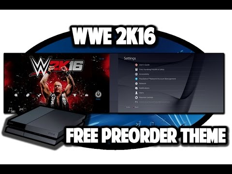 [PS4 THEMES] WWE 2k16 Free Preorder Theme Video in 60FPS