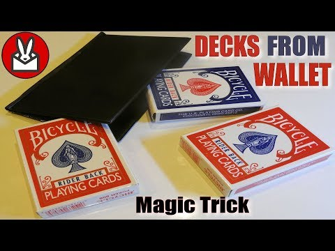 3 Decks of Bicycle Playing Cards from Wallet Magic Trick