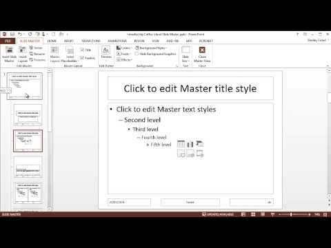 Formatting the Slide Master in PowerPoint 2013