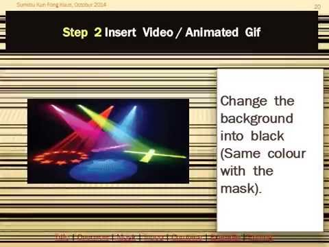 MS PowerPoint 2013 - Text Effects - Video/ Animation Gif As Background