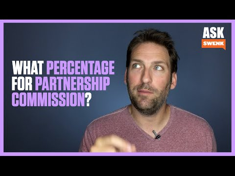 What percentage commision if any should be paid to a partner that referrs us business?