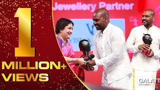Raghava Lawrence winning HUMANITARIAN OF THE YEAR   Galatta Nakshatra Awards