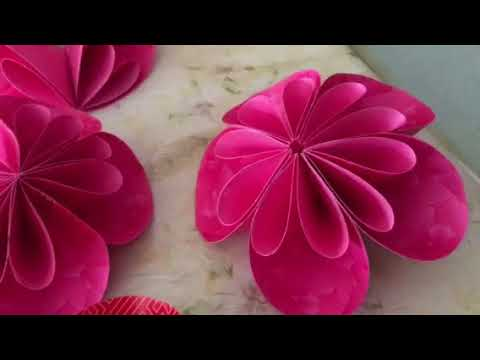 Round Kusudama Flowers using Ang Pow Papers