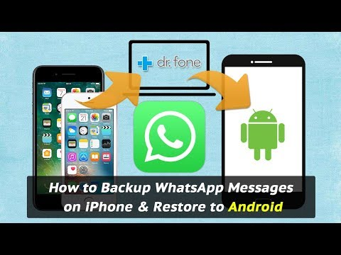 How to Backup WhatsApp Messages on iPhone & Restore to Android